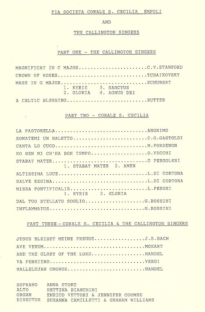 1996CoraleProgramme