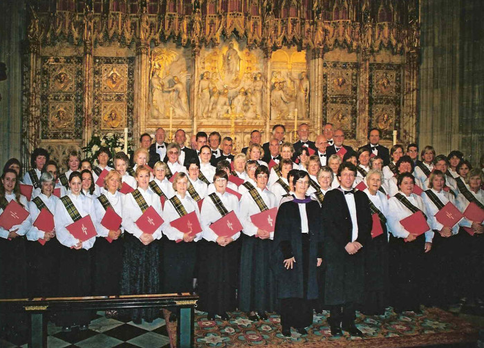 At St Georges Chapel, Windsor in 2001